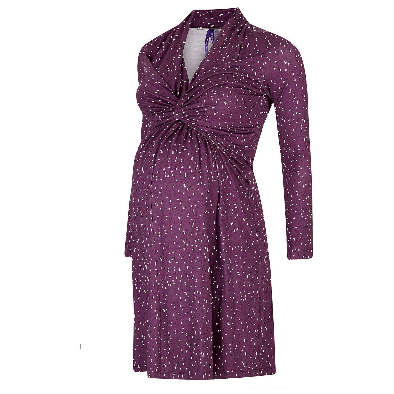 Séraphine Helen Dot Nursing & Maternity Dress, Purple at John Lewis