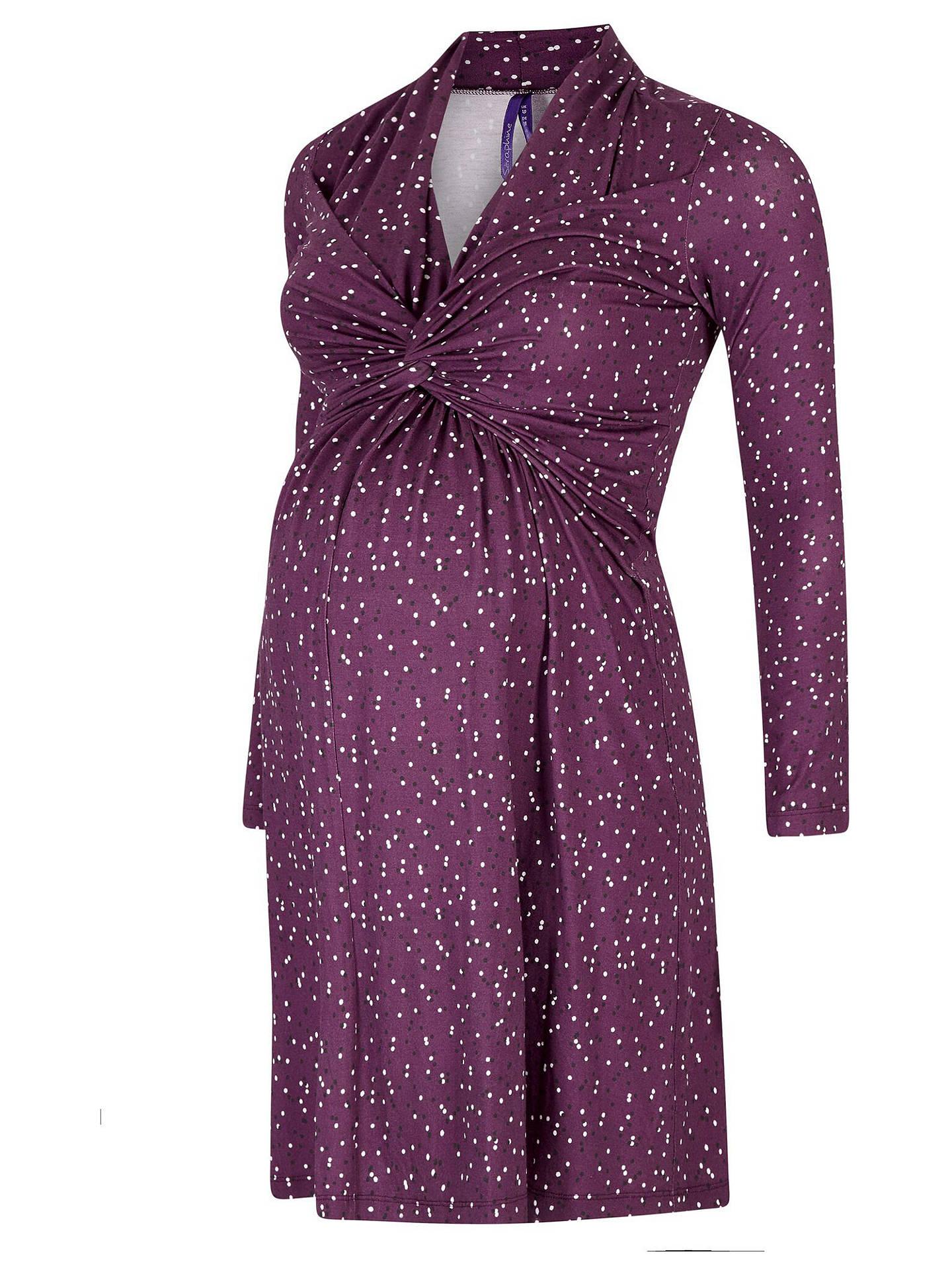 23ea94ac97cab Buy Séraphine Helen Dot Nursing & Maternity Dress, Purple, 8 Online at  johnlewis.