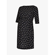 Buy Séraphine Minnie Dots Maternity Dress, Black Online at johnlewis.com
