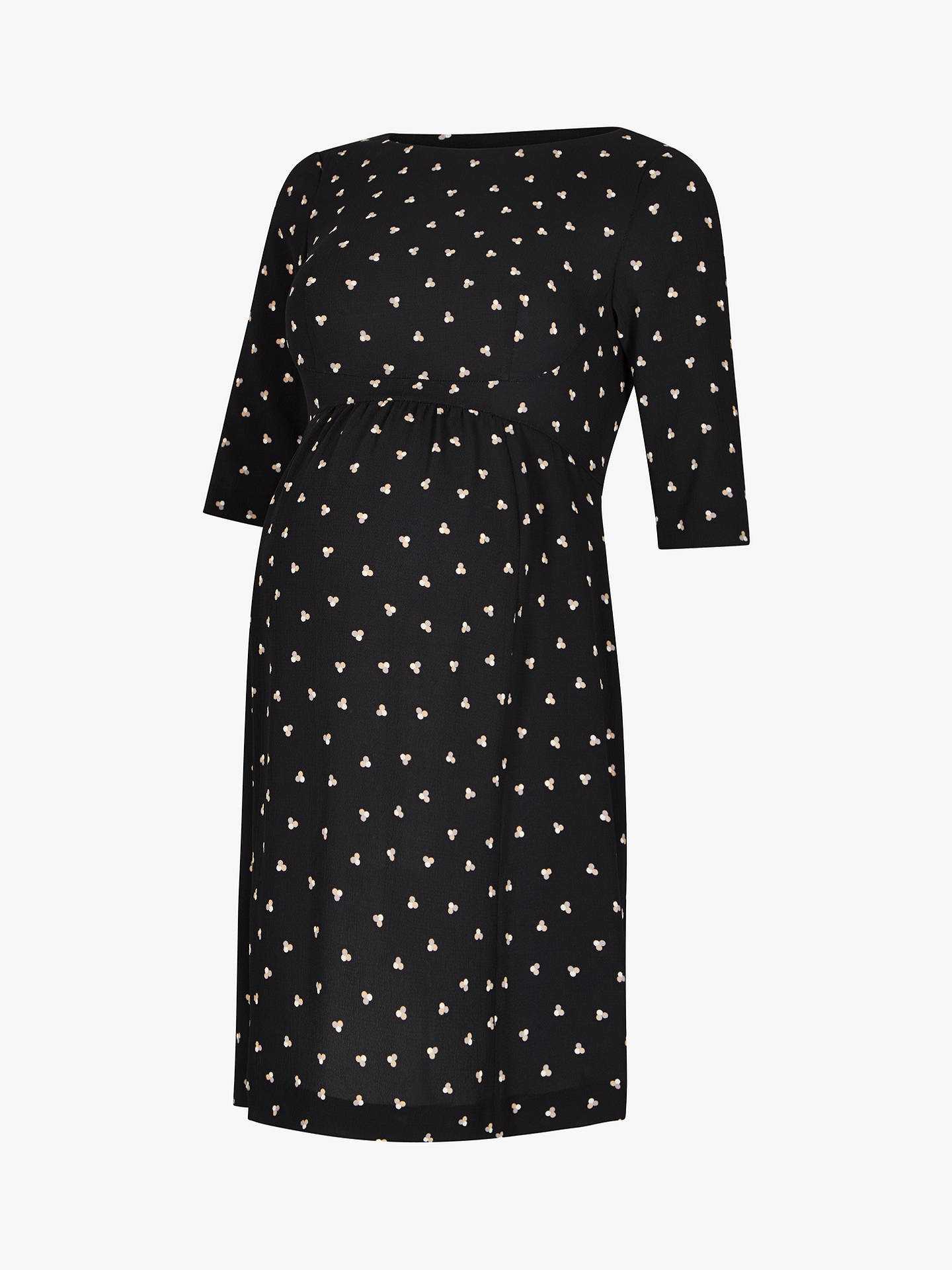 65289721beda3 ... Buy Séraphine Minnie Dots Maternity Dress, Black, 8 Online at  johnlewis.com