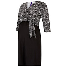 Buy Séraphine Naomi Maternity Tie Dress, Black/White Online at johnlewis.com