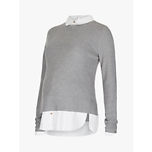 Buy Séraphine Marianne Nursing Shirt Jumper, Grey Online at johnlewis.com