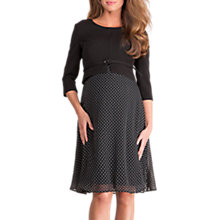 Buy Séraphine Jill Luxe Silk & Ponte Maternity Dress, Black Online at johnlewis.com