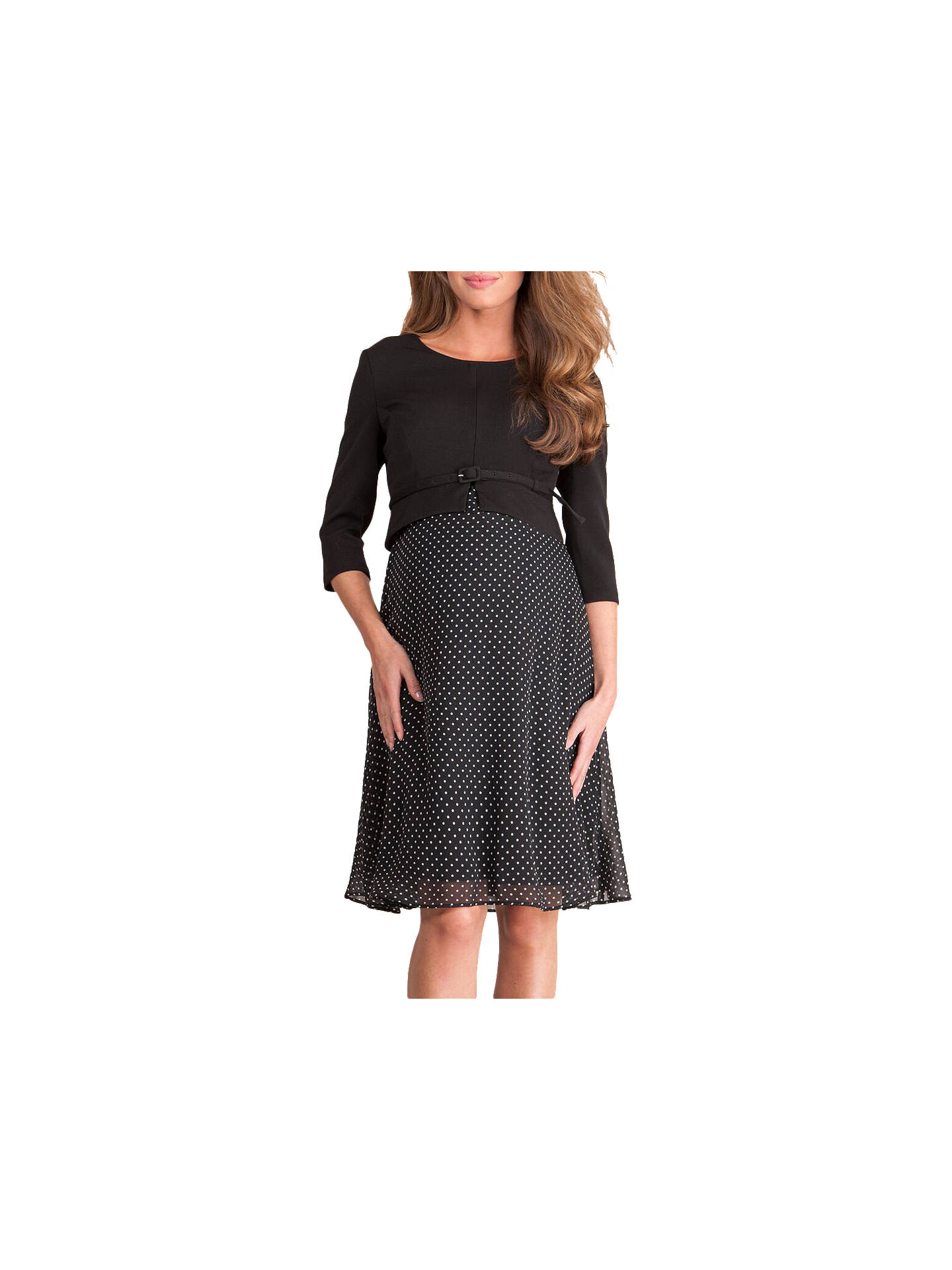 140d4558bb7a9 Buy Séraphine Jill Luxe Silk & Ponte Maternity Dress, Black, 8 Online at  johnlewis ...