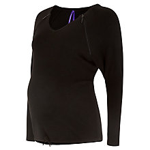 Buy Séraphine Olive V-Neck Maternity & Nursing Jumper, Black Online at johnlewis.com