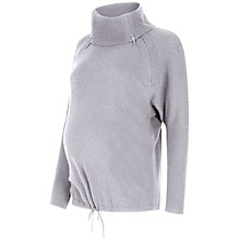 Buy Séraphine Eda Roll Neck Maternity Jumper, Marble Grey Online at johnlewis.com