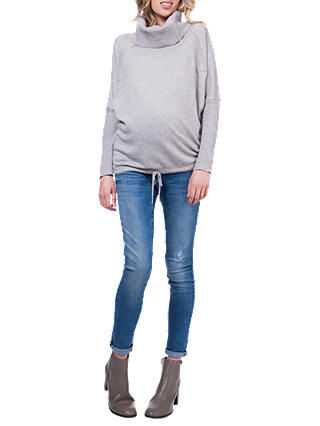 Buy Séraphine Eda Roll Neck Maternity Jumper, Marble Grey, S Online at johnlewis.com