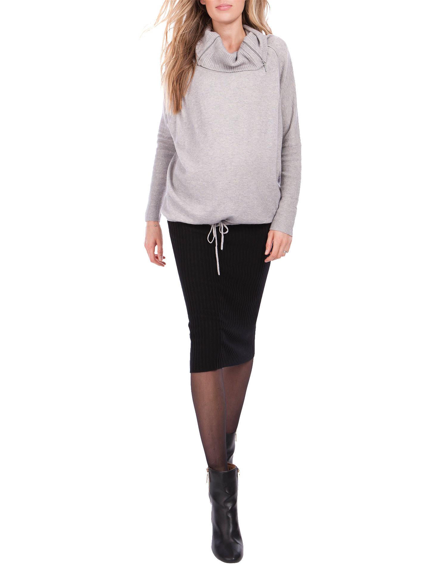 BuySéraphine Eda Roll Neck Maternity Jumper, Marble Grey, S Online at johnlewis.com