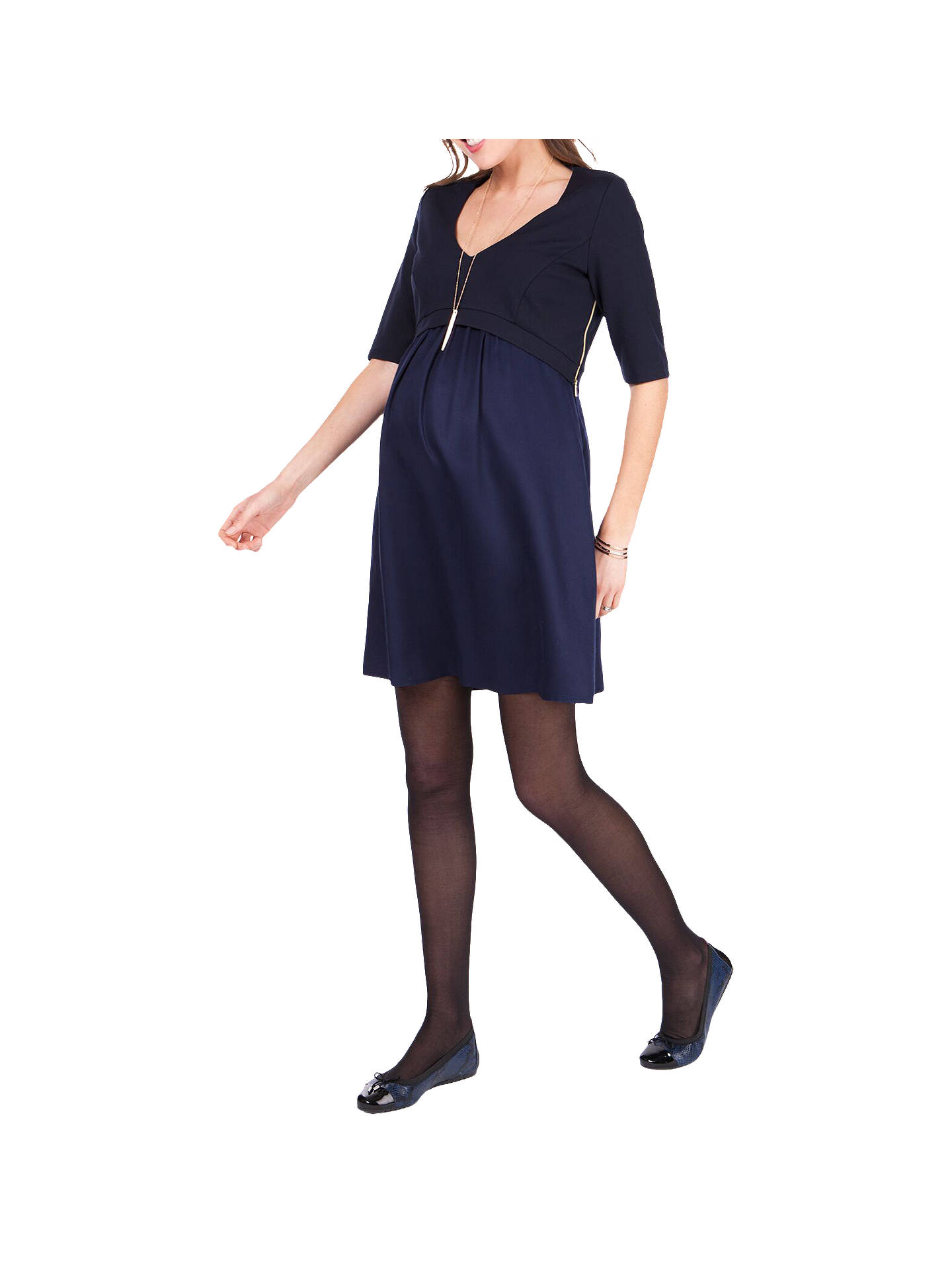 31a605dc1223c Buy Séraphine Lucy Maternity Nursing Dress, Navy, 8 Online at johnlewis.com  ...