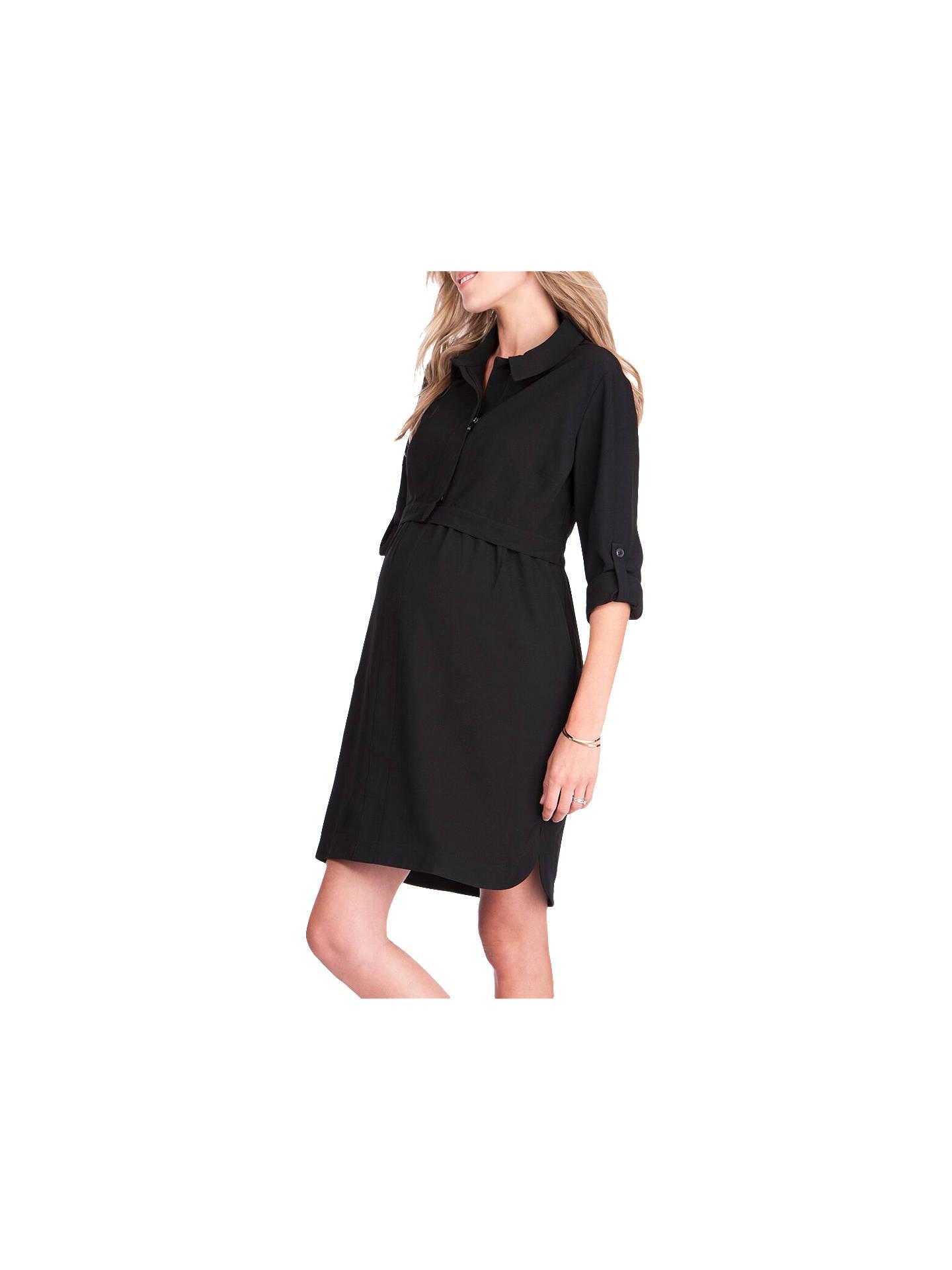 Sraphine Grace Maternity Nursing Dress Black At John Lewis Partners