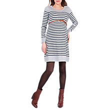 Buy Séraphine Ella Stripe Knit Maternity Dress, Grey Marl Online at johnlewis.com