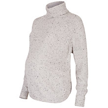Buy Séraphine Alma Speckled Cape Roll Neck Maternity Jumper Online at johnlewis.com