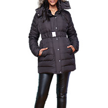 Buy Séraphine Kingston Maternity Coat, Black Online at johnlewis.com