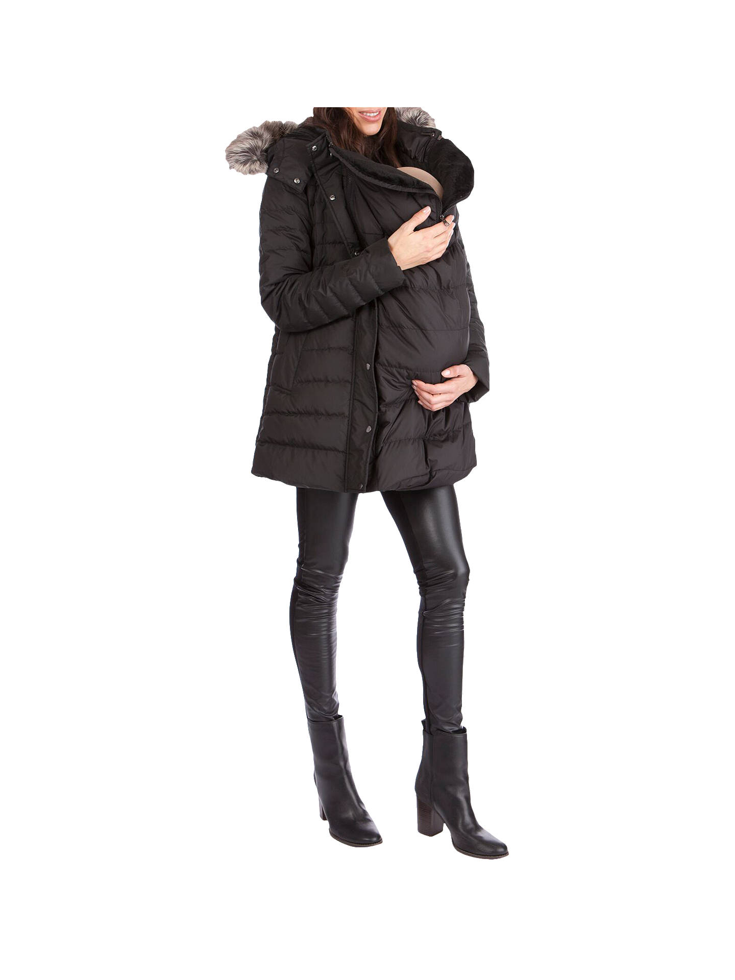 0a0733e5edb27 Buy Séraphine Kingston 3 In 1 Maternity Coat, Black, 8 Online at johnlewis.