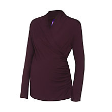 Buy Séraphine Melanie Maternity Nursing Top, Burgundy Online at johnlewis.com