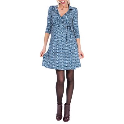 Séraphine Delphina Wrap Maternity Nursing Dress, Blue