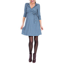 Buy Séraphine Delphina Wrap Maternity Nursing Dress, Blue Online at johnlewis.com