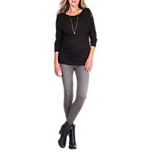 Buy Séraphine Wilma Popper Shoulder Maternity Top, Black Online at johnlewis.com