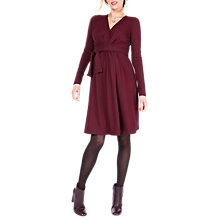 Buy Séraphine Johanna Tie Maternity Nursing Dress, Burgundy Online at johnlewis.com