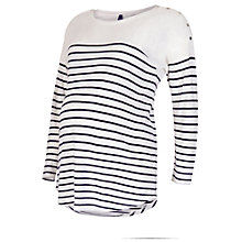 Buy Séraphine Stripe Long Sleeve Nursing Maternity Top, White/Navy Online at johnlewis.com
