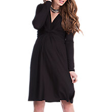 Buy Séraphine Jolene Knot Front Maternity Dress, Black Online at johnlewis.com