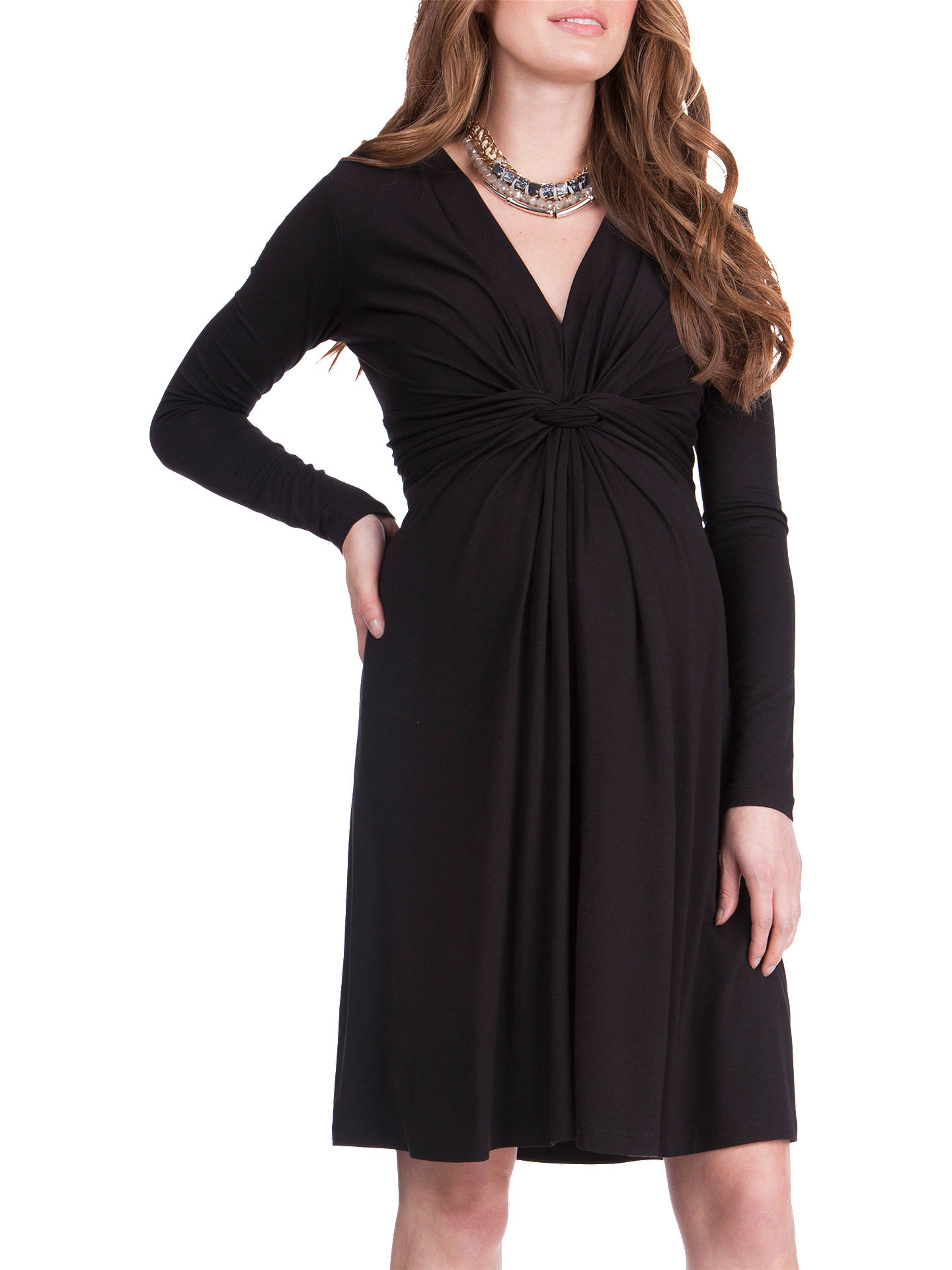 55fd0b1db9cd7 ... Buy Séraphine Jolene Knot Front Maternity Dress, Black, 8 Online at  johnlewis.com ...