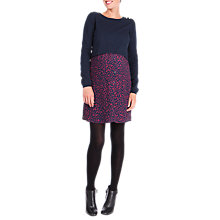 Buy Séraphine Trinity Mock Jumper Maternity Dress, Navy Online at johnlewis.com