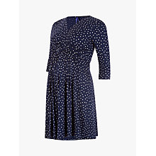 Buy Séraphine Eva 3/4 Sleeve Maternity Dress, Navy Online at johnlewis.com