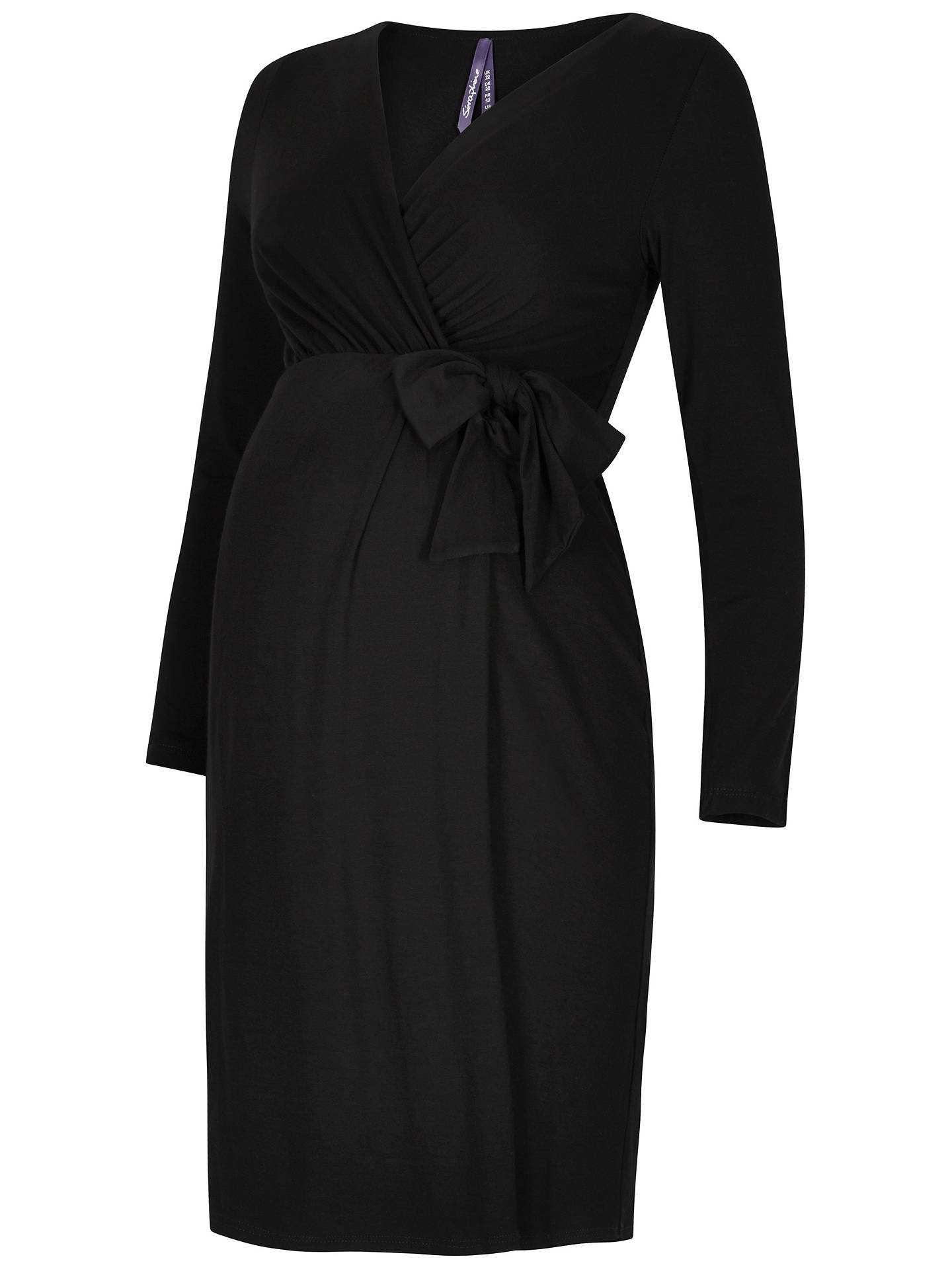 e14af75dace23 Buy Séraphine Tiana Maternity Tie Dress, Black, 8 Online at johnlewis.com  ...