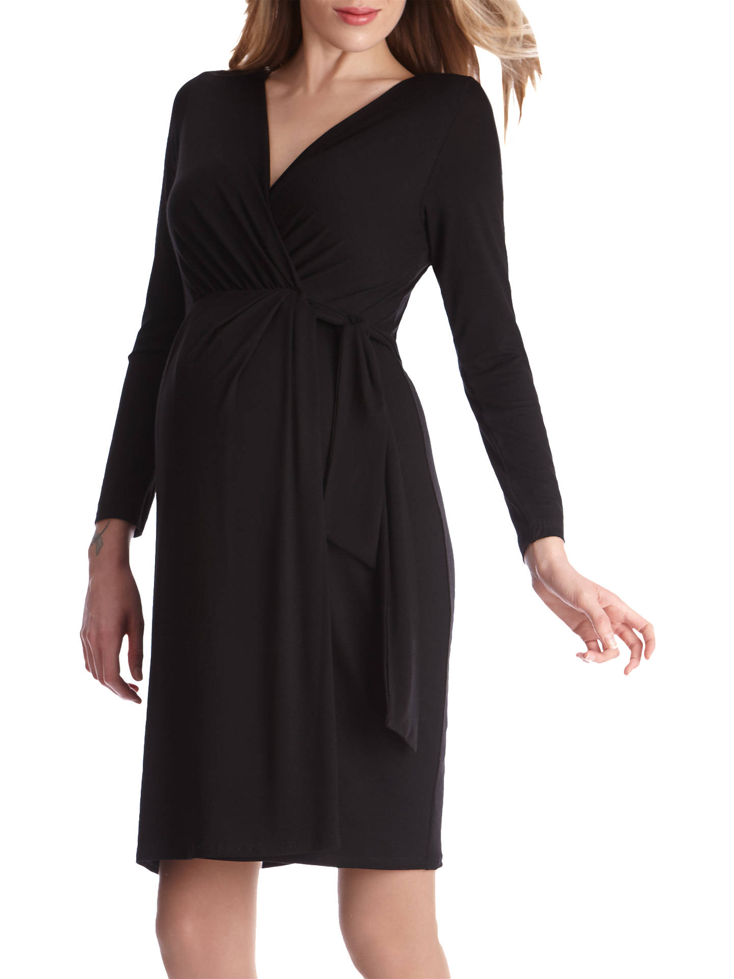 9cd643f224ede ... Buy Séraphine Tiana Maternity Tie Dress, Black, 8 Online at  johnlewis.com ...
