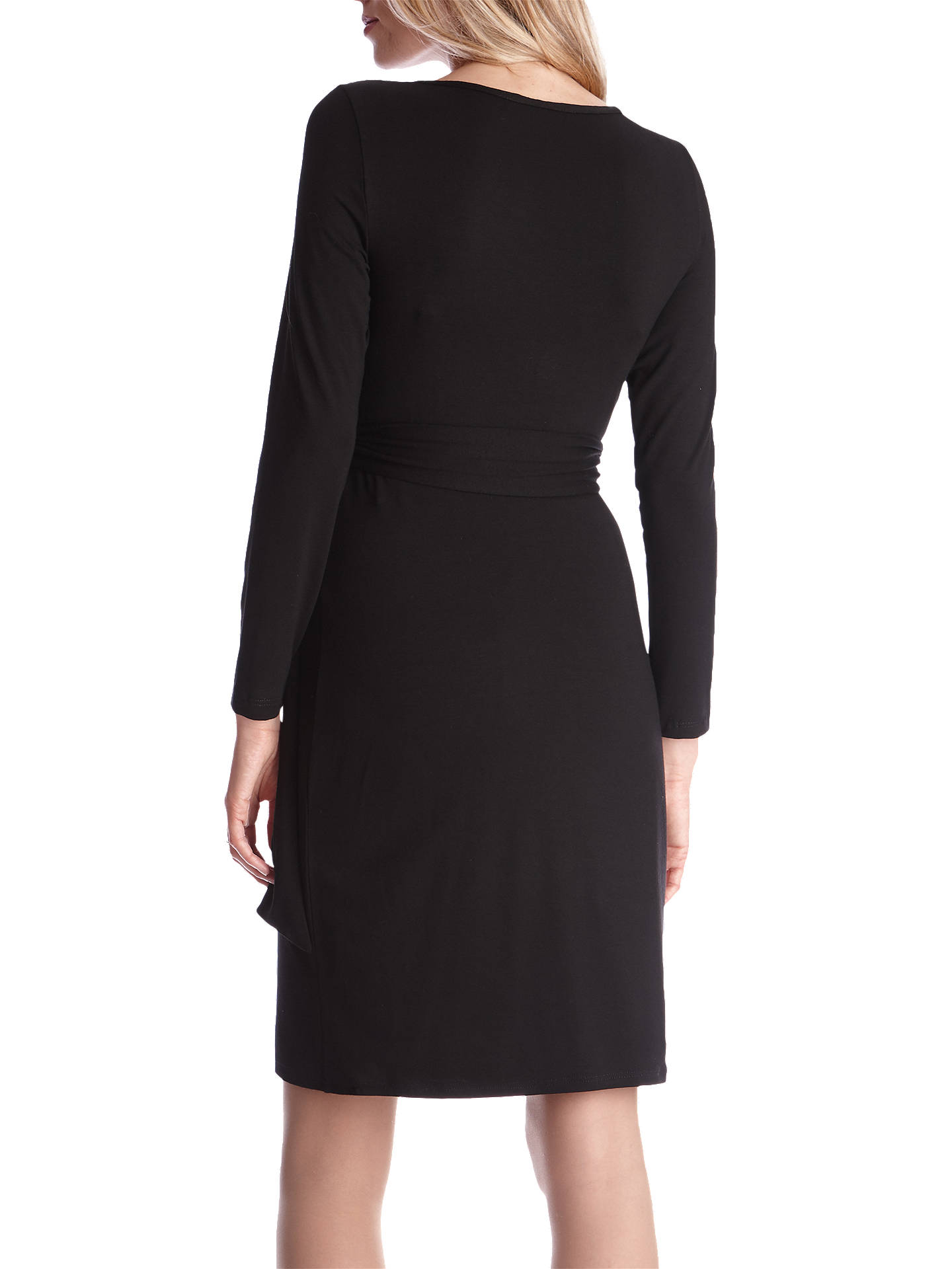 ae7e9b4dfb24d ... Buy Séraphine Tiana Maternity Tie Dress, Black, 8 Online at  johnlewis.com