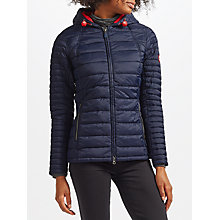 Buy Barbour Landry Baffle Quilted Jacket, Navy/Flare Online at johnlewis.com