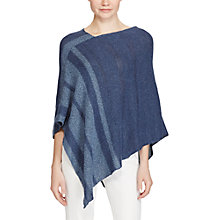 Buy Lauren Ralph Lauren Cotton Linen Poncho, Dark/Light Indigo Online at johnlewis.com