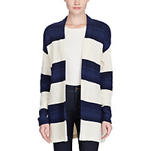 Buy Lauren Ralph Lauren Open Front Stripe Cardigan, Cream/Indigo Online at johnlewis.com