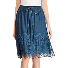 Buy Lauren Ralph Lauren Lace Trim A-Line Skirt, True Indigo Online at johnlewis.com