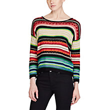 Buy Lauren Ralph Lauren Stripe Cotton Linen Jumper, Multi Online at johnlewis.com