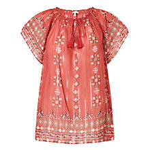 Buy Joie Arevig Silk Top, Terracotta Bloom Online at johnlewis.com