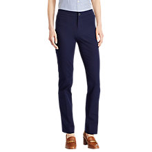 Buy Lauren Ralph Lauren Stretch Cotton Twill Trousers, Navy Online at johnlewis.com