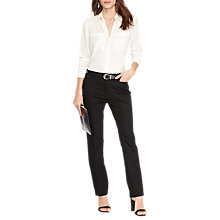 Buy Lauren Ralph Lauren Stretch Cotton Straight Trousers, Black Online at johnlewis.com