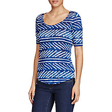 Buy Lauren Ralph Lauren Printed Linen Top, Blue/White Online at johnlewis.com