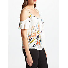Buy Joie Adorlee Silk Top, Porcelain Online at johnlewis.com