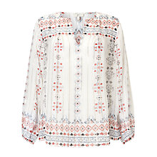 Buy Joie Maguie Silk Top, Porcelain Online at johnlewis.com