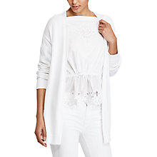 Buy Lauren Ralph Lauren Open-Front Cardigan, White Online at johnlewis.com