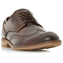 Buy Dune Britannia Leather Brogues, Brown Online at johnlewis.com
