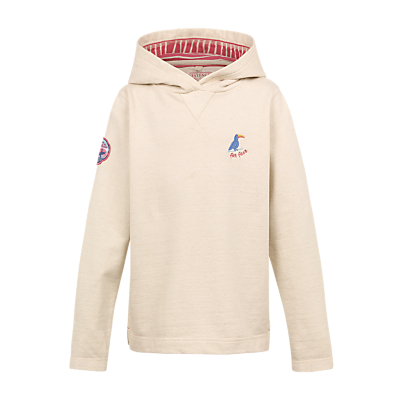 Fat Face Girls' Bude Popover Hoodie, Oatmeal