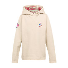 Buy Fat Face Girls' Bude Popover Hoodie, Oatmeal Online at johnlewis.com