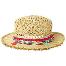 Buy Fat Face Girls' Cowboy Hat, Natural Online at johnlewis.com