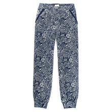 Buy Fat Face Girls' Paisley Print Beach Trousers, Navy Online at johnlewis.com