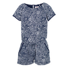 Buy Fat Face Girls' Paisley Jersey Playsuit, Blue Online at johnlewis.com