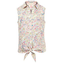 Buy Fat Face Girls' Elephant Doodle Blouse, Ecru Online at johnlewis.com